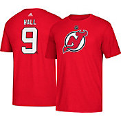 adidas Men's New Jersey Devils Taylor Hall #9 Red T-Shirt