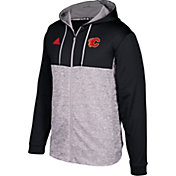 adidas Men's Calgary Flames Black/Grey Full-Zip Hoodie