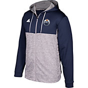 adidas Men's Edmonton Oilers Navy/Grey Full-Zip Hoodie