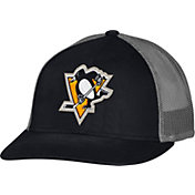 CCM Men's Pittsburgh Penguins Trucker Black Mesh Adjustable Hat