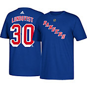 adidas Men's New York Rangers Henrik Lundqvist #30 Royal T-Shirt