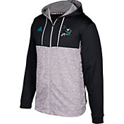 adidas Men's San Jose Sharks Black/Grey Full-Zip Hoodie