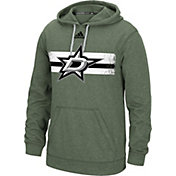 adidas Men's Dallas Stars Heather Green Pullover Hoodie