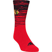 adidas Chicago Blackhawks Heathered Crew Socks