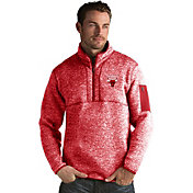 Antigua Men's Chicago Bulls Fortune Red Half-Zip Pullover
