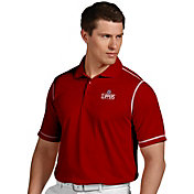Antigua Men's Los Angeles Clippers Icon Red Performance Polo