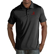 Antigua Men's Alabama Crimson Tide Black Quest Polo