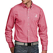 Antigua Men's Alabama Crimson Tide Crimson Associate Button Down Long Sleeve Shirt