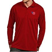 Antigua Men's Dayton Flyers Red Exceed Long Sleeve Polo