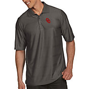 Antigua Men's Oklahoma Sooners Grey Illusion Polo