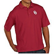 Antigua Men's Oklahoma Sooners Crimson Pique Xtra-Lite Polo