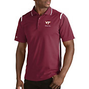 Antigua Men's Virginia Tech Hokies Merit Xtra-Lite White Polo