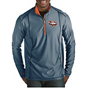 Antigua Men's Denver Broncos Quick Snap Logo Tempo Navy Quarter-Zip Pullover