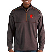 Antigua Men's Cleveland Browns Prodigy Quarter-Zip Brown Pullover