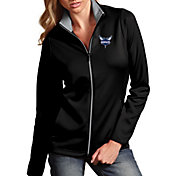 Antigua Women's Charlotte Hornets Leader Purple Full-Zip Fleece