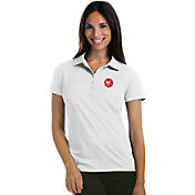 Antigua Women's Atlanta Hawks Xtra-Lite White Pique Performance Polo