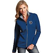 Antigua Women's Dallas Mavericks Leader Royal Full-Zip Fleece