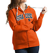 Antigua Women's Syracuse Orange Orange Victory Full-Zip Hoodie