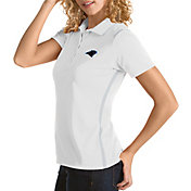 Antigua Women's Carolina Panthers Merit White Xtra-Lite Pique Polo