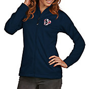 Antigua Women's Houston Texans Quick Snap Logo Navy Golf Jacket