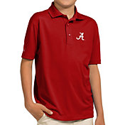 Antigua Youth Alabama Crimson Tide Crimson Pique Polo