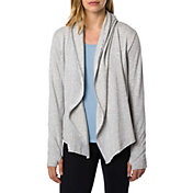 Betsey Johnson Performance Women's Hooded Drape Open Jacket