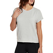 CALIA by Carrie Underwood Women's Effortless Fleece Crewneck T-Shirt