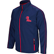 Colosseum Men's Ole Miss Rebels Blue Barrier Full Zip Wind Jacket