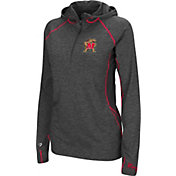 Colosseum Women's Maryland Terrapins Charcoal Capo Ferro Quarter-Zip Hooded Windshirt
