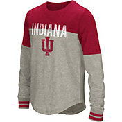 Colosseum Girls' Indiana Hoosiers Grey Baton Long Sleeve T-Shirt