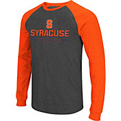 Colosseum Men's Syracuse Orange Grey Olympus II Long Sleeve Shirt