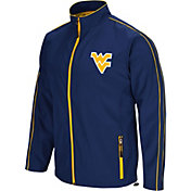 Colosseum Men's West Virginia Mountaineers Blue Barrier Full Zip Wind Jacket