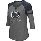 Colosseum Women's Penn State Nittany Lions Grey Three-Quarter Sleeve Tri-Blend T-Shirt