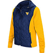 Colosseum Women's West Virginia Mountaineers Blue/Gold Six Fingers Full-Zip Jacket