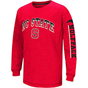 Colosseum Youth North Carolina State Wolfpack Red Grandstand Long Sleeve T-Shirt