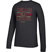 CCM Men's Chicago Blackhawks Line Brawl Black Long Sleeve Shirt