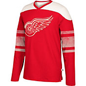 CCM Men's Detroit Red Wings Crew Grey Long Sleeve Shirt