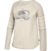 CCM Women's Colorado Avalanche Grey Raglan Long Sleeve Shirt