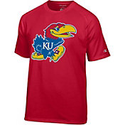 Champion Men's Kansas Jayhawks Red Big Logo T-Shirt