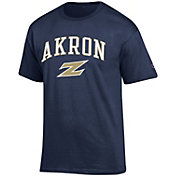 Champion Men's Akron Zips Navy Big Soft T-Shirt