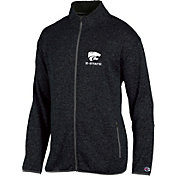 Champion Men's Kansas State Wildcats Grey Playbook Full-Zip Jacket