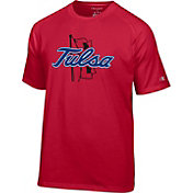 Champion Men's Tulsa Golden Hurricane Crimson Big Logo T-Shirt