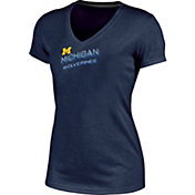 Champion Women's Michigan Wolverines Blue Success V-Neck T-Shirt