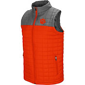 Colosseum Men's Clemson Tigers Orange/Grey Amplitude Puff Vest