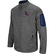 Colosseum Men's Ole Miss Rebels Grey Anchor Full-Zip Jacket