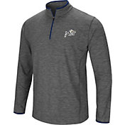 Colosseum Men's Navy Midshipmen Grey Action Pass Quarter-Zip Shirt