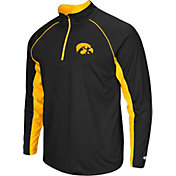 Colosseum Men's Iowa Hawkeyes Black Airstream Quarter-Zip Windshirt