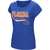 Colosseum Women's Florida Gators Blue Speckled Yarn T-Shirt