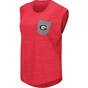 Colosseum Athletics Women's Georgia Bulldogs Red Pocket Tank Top