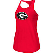 Colosseum Women's Georgia Bulldogs Red Mesh Tank